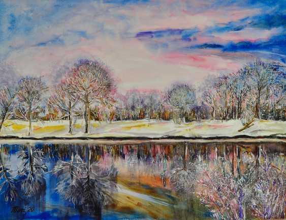 Maryna Pashchenko. Winter on the river. - photo 1