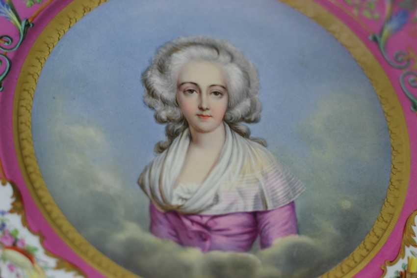 Dish Portrait Of Marie-Josephine Of Savoy - photo 2