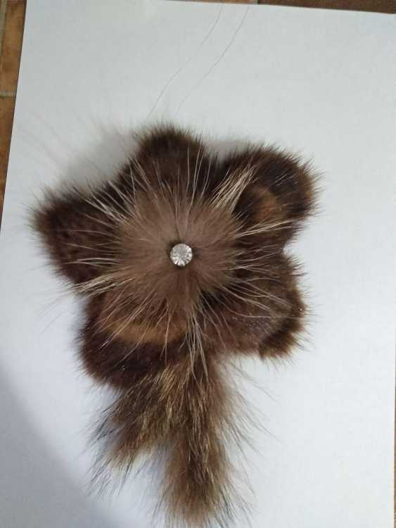 "Marianna Kamyshanskaya. Brooch ""Fur fantasy"" - photo 1"