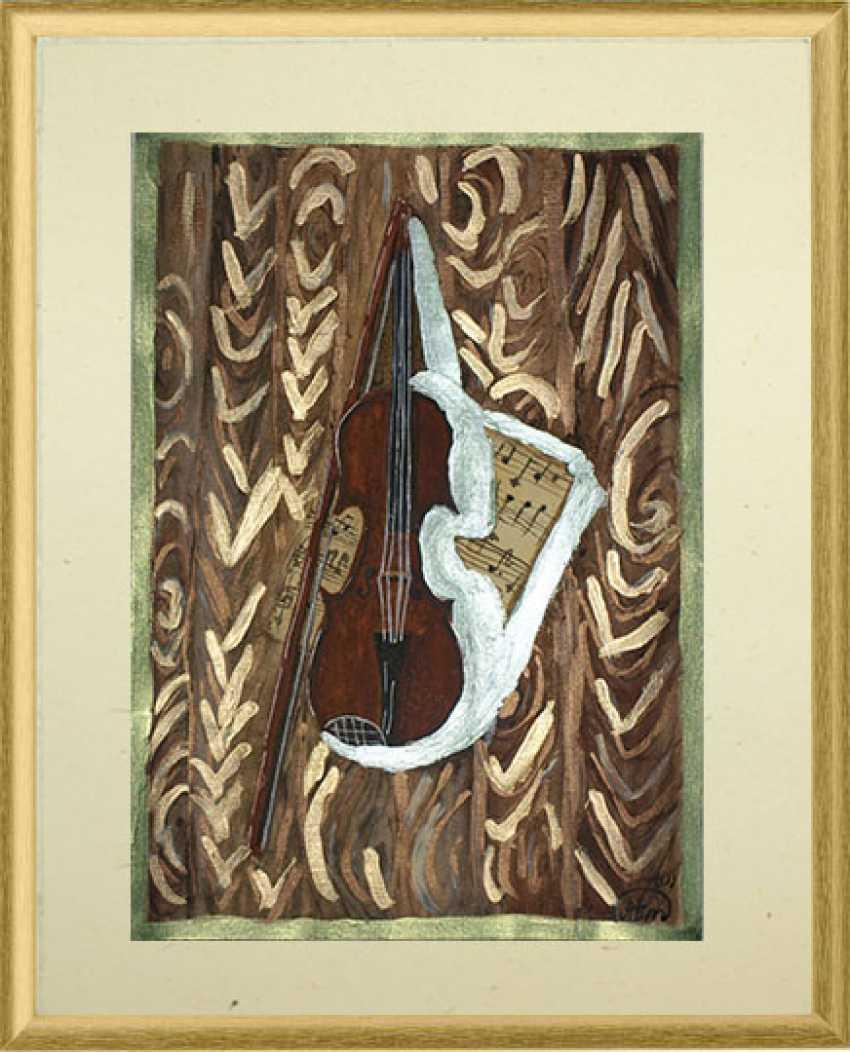 """Tatiana Iurasova. Das Bild """"die Zauberhaften Klänge der Violine"""" - Foto 1"""