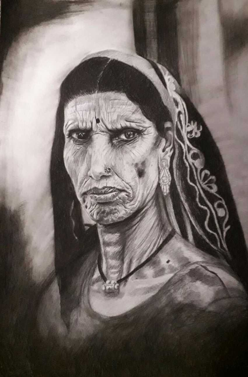 Diana Liasko. Portrait of an old woman - photo 1