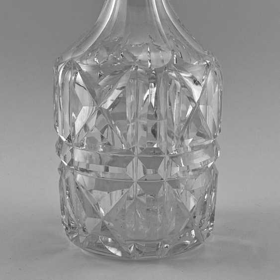 Antiquités de la carafe à décanter, damassé, en Angleterre, Cristal, Argent, 1928, travail manuel - photo 2