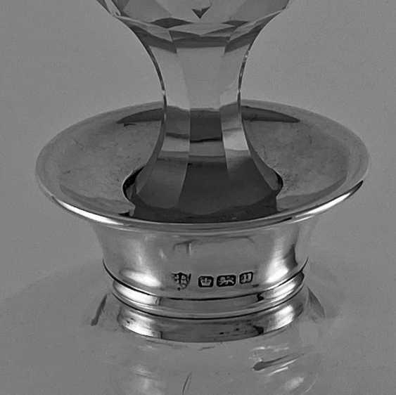 Antique carafe, decanter, bottle, England, Crystal, Silver, 1942, handmade - photo 2