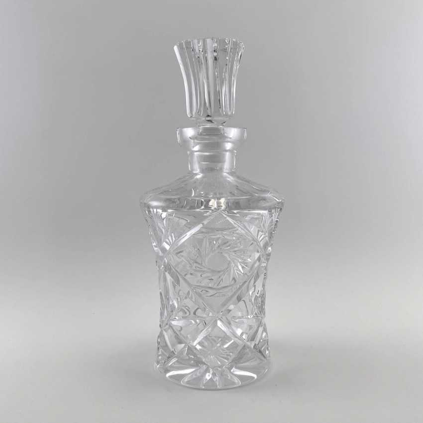 Antique carafe, decanter, bottle, England, Crystal, late 19th century, handmade - photo 1