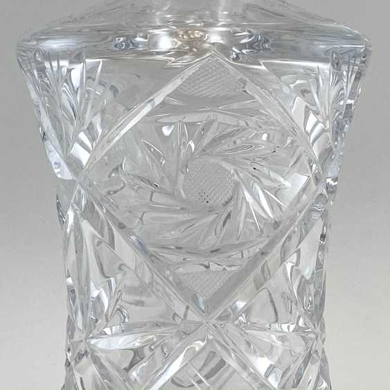Antique carafe, decanter, bottle, England, Crystal, late 19th century, handmade - photo 2