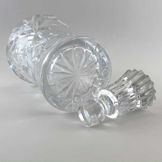 Antique carafe, decanter, bottle, England, Crystal, late 19th century, handmade - photo 3