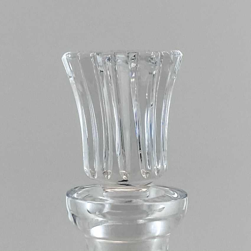 Antique carafe, decanter, bottle, England, Crystal, late 19th century, handmade - photo 4