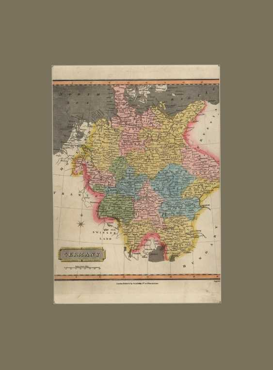 The Map Of Germany. From the General Atlas of the world. - photo 1