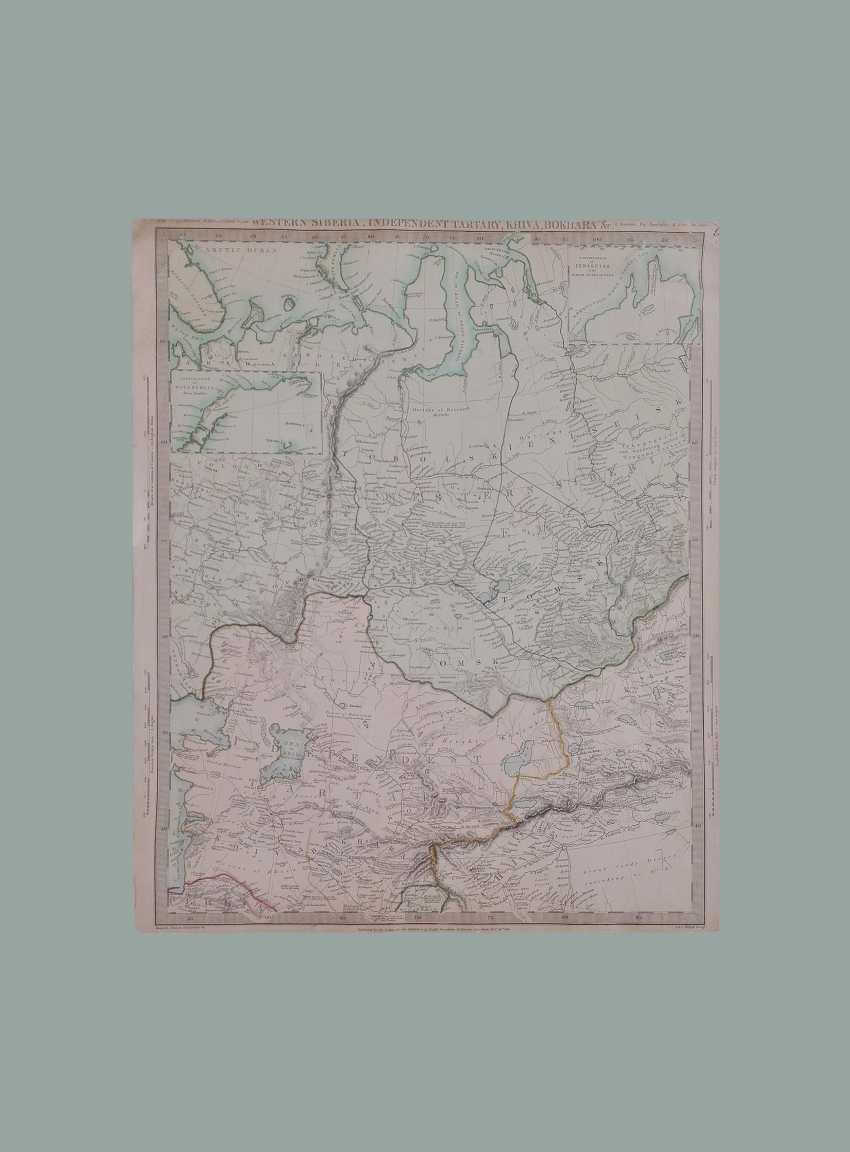 Carte De L'Ouest De La Sibérie, Indépendante De La Tartarie, De Khiva. Publié la «Société pour la propagation des connaissances utiles». - photo 1