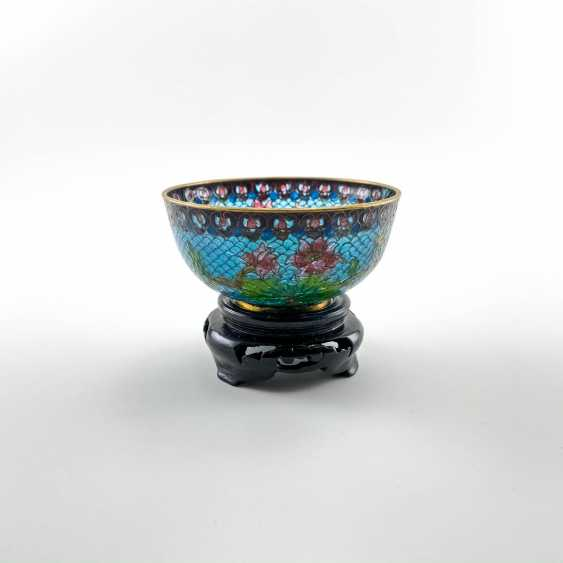 Decorative vase, rare technique of stained glass enamels, China, cloisonné, perfect condition - photo 4