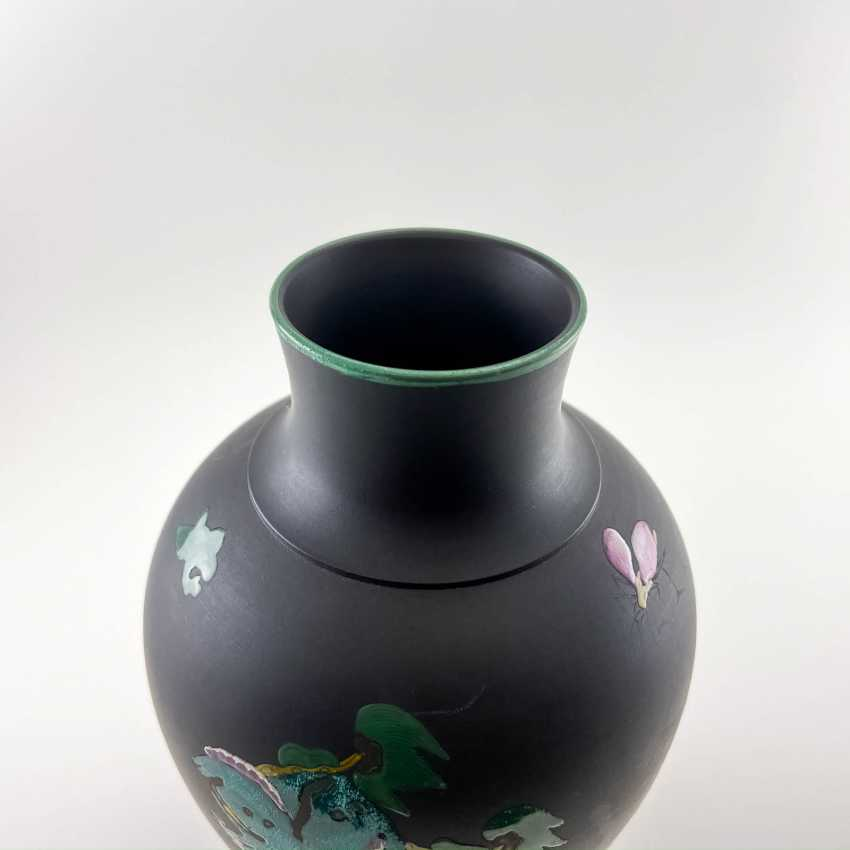 Rare Wedgwood vase with enamel, collection Kenlock Ware, England, 19th century biscuit porcelain, Wedgwood - photo 4