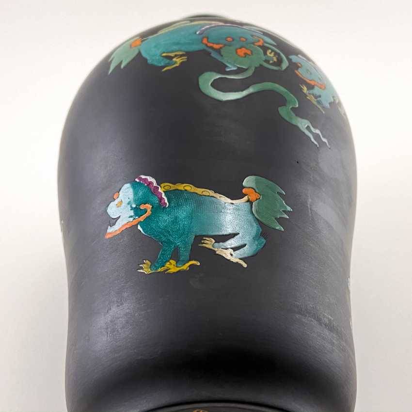Rare Wedgwood vase with enamel, collection Kenlock Ware, England, 19th century biscuit porcelain, Wedgwood - photo 5