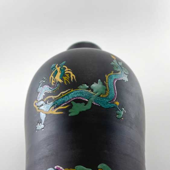 Rare Wedgwood vase with enamel, collection Kenlock Ware, England, 19th century biscuit porcelain, Wedgwood - photo 6