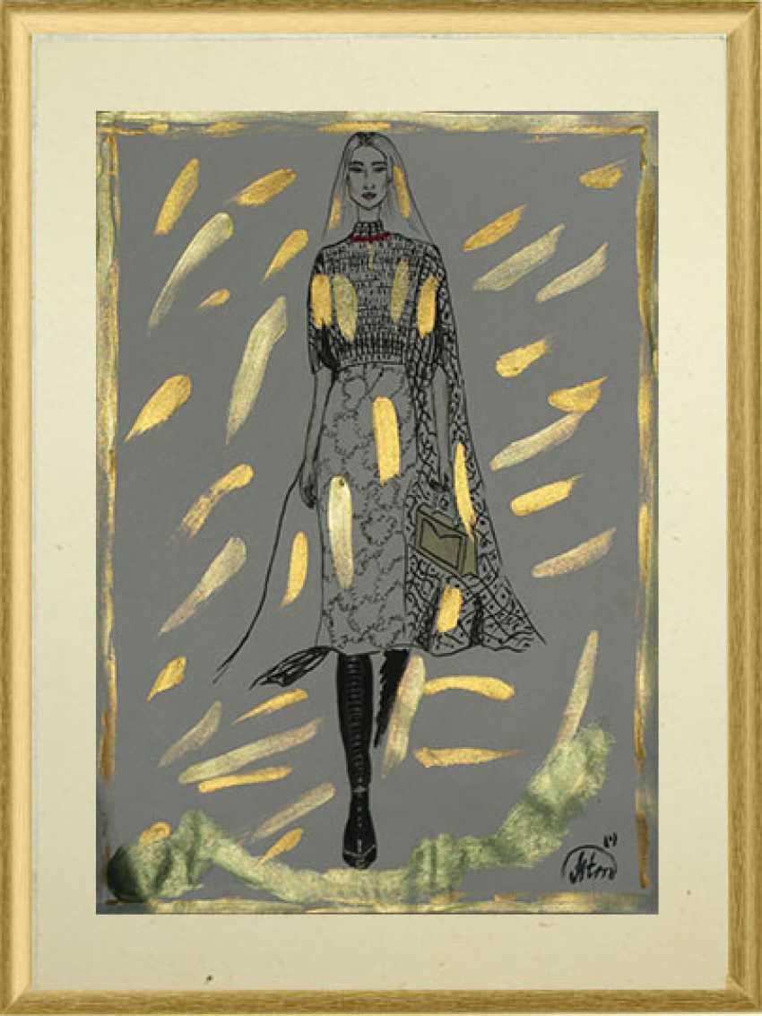 """Tatiana Iurasova. The painting """"Beauty in fashion world"""" - photo 1"""