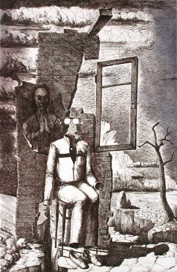 "Petr Annenkov. A series of ""CHOICE - NEUTRALITY"", paper, etching, 50х32, 1986 - photo 1"
