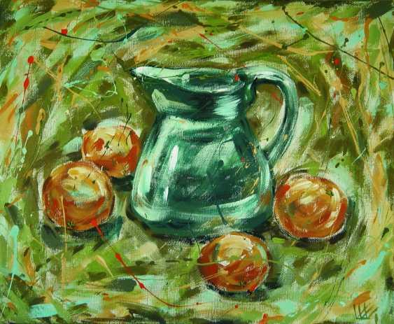 "Ekaterina Shadrina. ""Still life with green jug and oranges"" - photo 1"