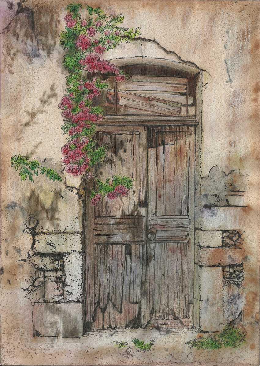 Natasha Mishareva. The old courtyard. Handmade. 2020. The Author - Natalia Pisareva - photo 1