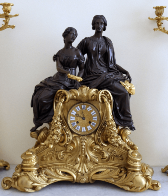 Clock with candelabra,France,19th century - photo 2