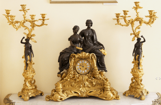 Clock with candelabra,France,19th century - photo 1