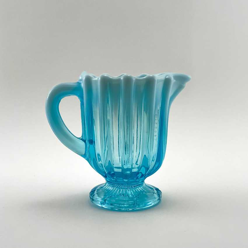 """The milkman of uranium glass """"643 Suite"""", England, the company is Davidson, perfect condition, 19th century - photo 1"""