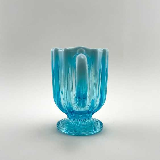 """The milkman of uranium glass """"643 Suite"""", England, the company is Davidson, perfect condition, 19th century - photo 3"""