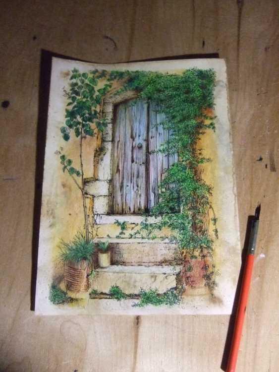 Natasha Mishareva. The old courtyard. Handmade. 2020. The Author - Natalia Pisareva - photo 2