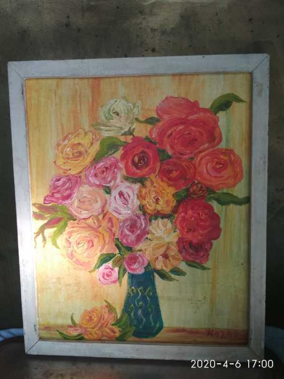 Elena Kozar-Gurina. Flowers. A bouquet of roses. Flowers. Bouquet of roses - photo 1