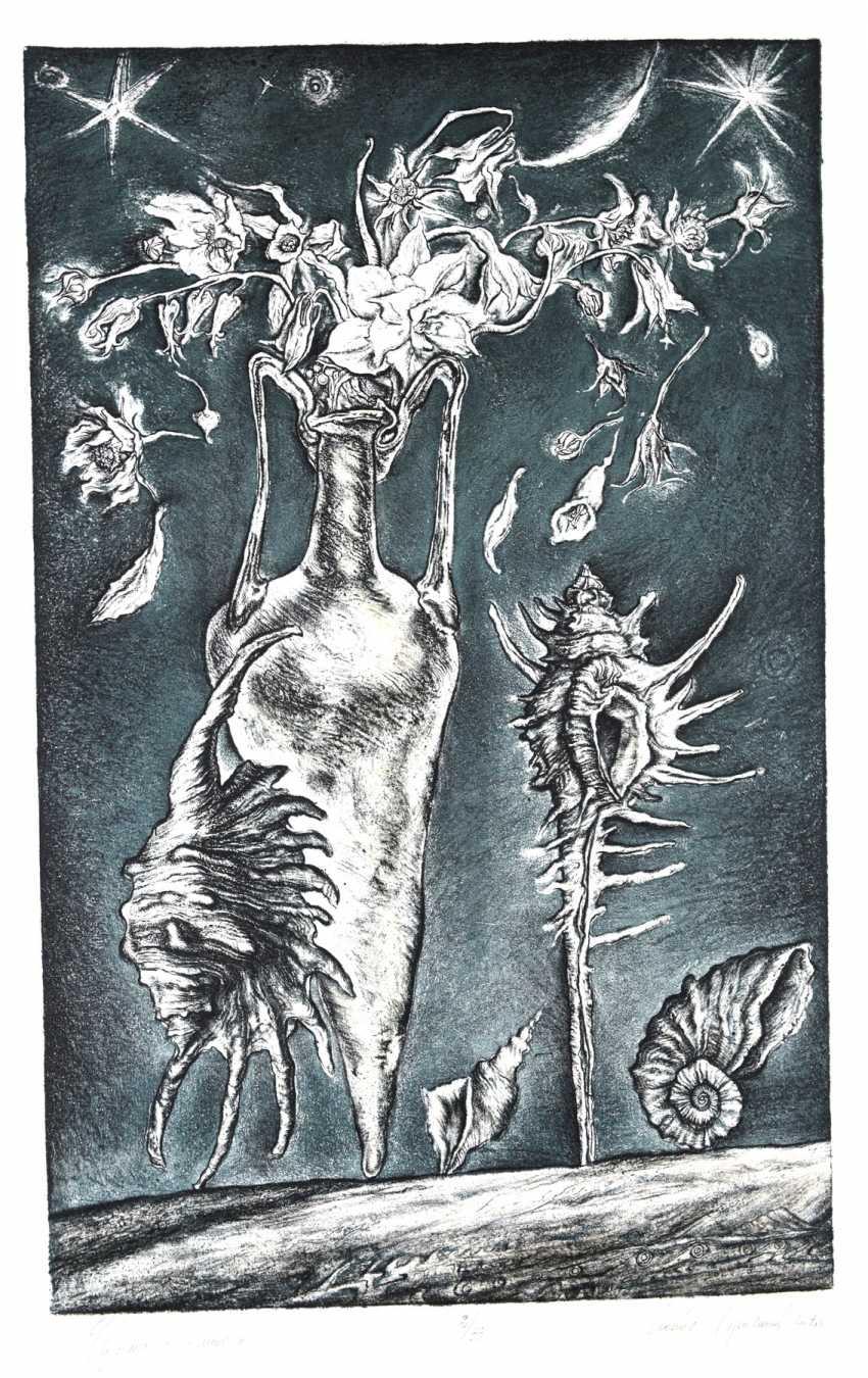 Leonid Stroganov. Flowers and amphora. - photo 1