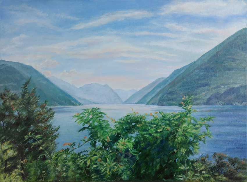 Oksana Borovik. Mountains and lake in Switzerland - photo 1