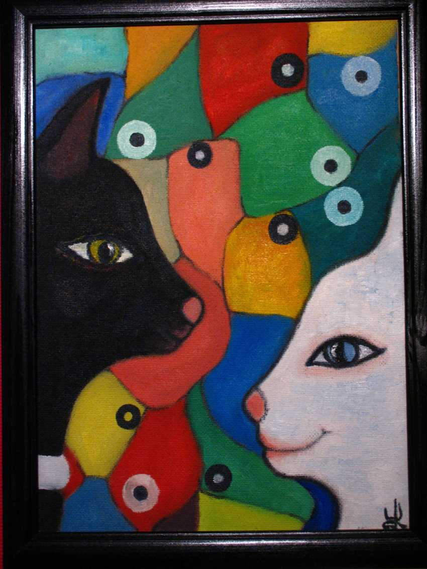 """Rina Blank. """"Meeting"""" series/ quadriptych of """"Unity and struggle of opposites"""" - photo 1"""