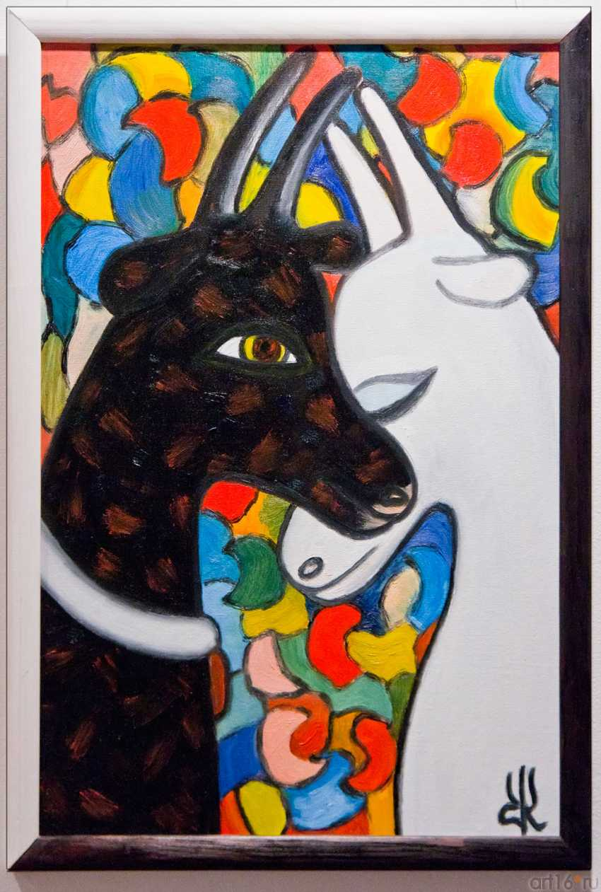 """Rina Blank. """"Unity"""" from the quadriptych """"the Unity and struggle of opposites"""" - photo 1"""