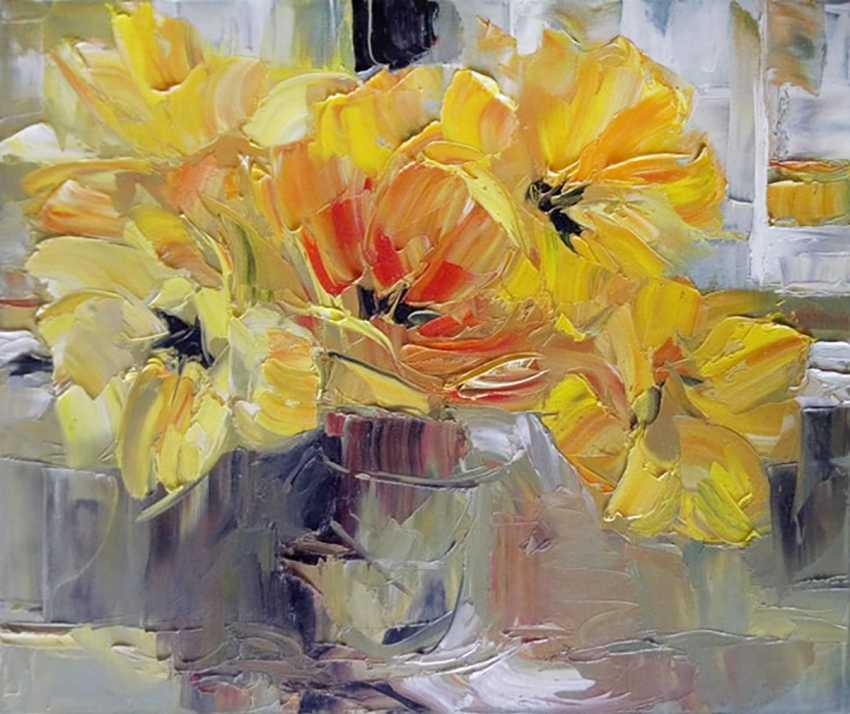 Anatolij Alekseev. yellow tulips - photo 1