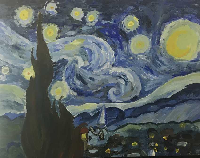 Elina Degtiarova. Starry night - photo 2