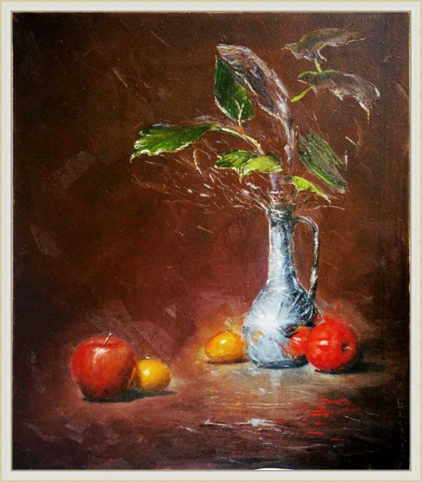 Nataliia Bahatska. Still life with apples and pitcher. - photo 1