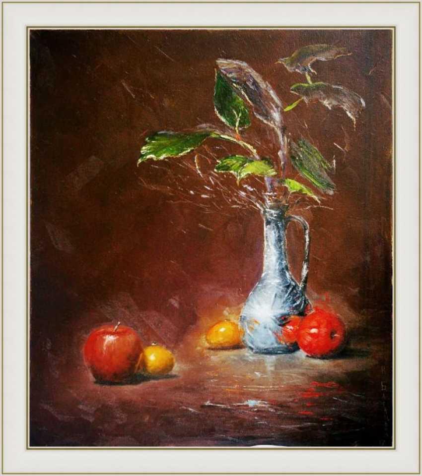 Nataliia Bahatska. Still life with apples and pitcher. - photo 2