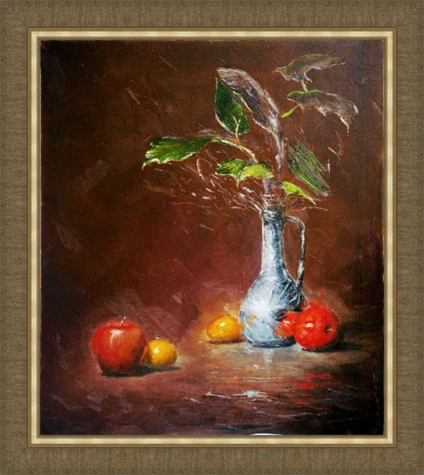 Nataliia Bahatska. Still life with apples and pitcher. - photo 3