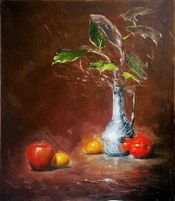 Nataliia Bahatska. Still life with apples and pitcher. - photo 4
