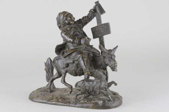 "The sculpture ""the Drunkard riding a donkey"" - photo 1"