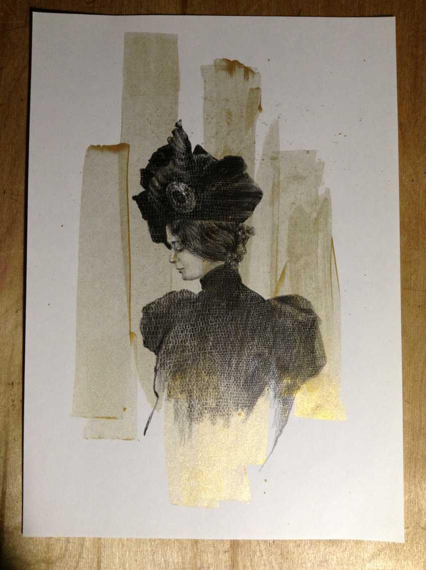 Natasha Mishareva. The magnificent century. Drawing, handwork, 2020 Author - Pisareva Natalia - photo 2