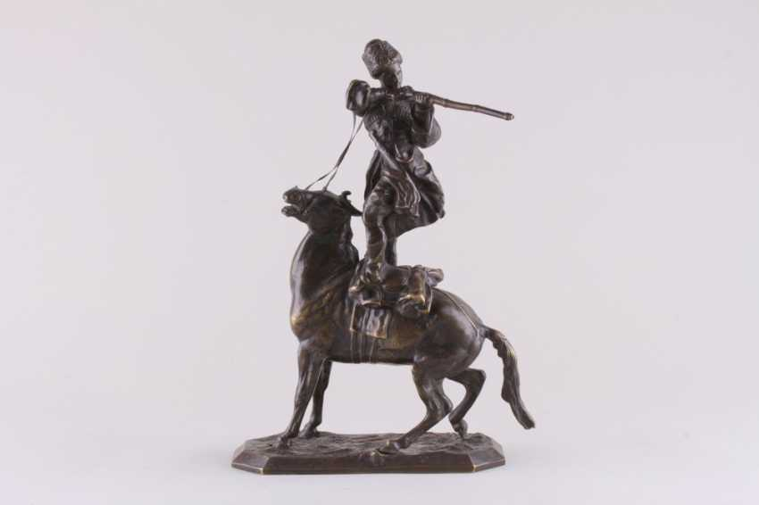 Sculpture the art of riding of the rider of the Circassian - photo 1