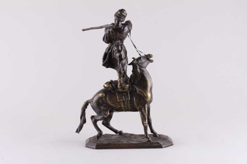 Sculpture the art of riding of the rider of the Circassian - photo 2