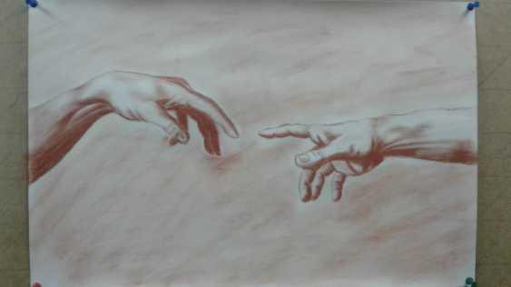Aleksei Roshchanovskii. The Creation of Adam (detail, after a fresco by Michelangelo Buonarotti) - photo 1