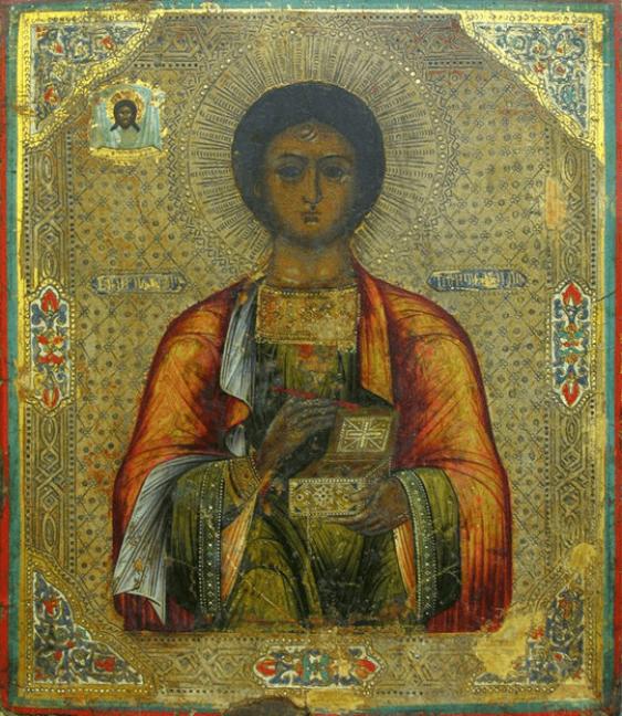 Icon Panteleimon the Healer of the XIX-th century - photo 1