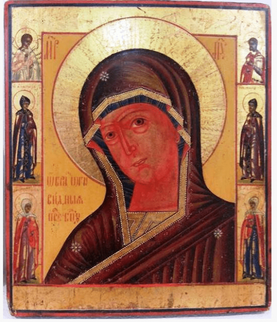 The icon of the mother of God Agnelina XIX-th century - photo 1