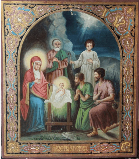 The icon of the Nativity of the XIX century - photo 1