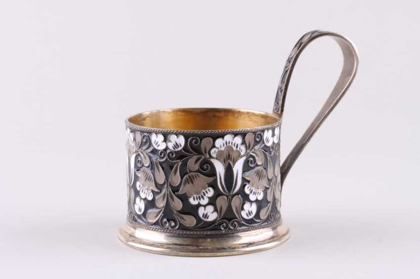 Cup holder with enamel, 916 fineness. - photo 1