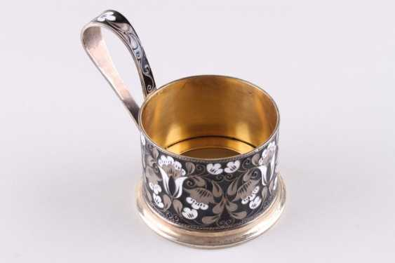 Cup holder with enamel, 916 fineness. - photo 2