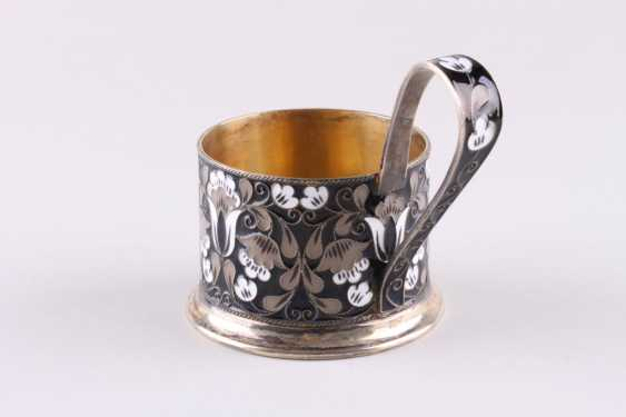 Cup holder with enamel, 916 fineness. - photo 3