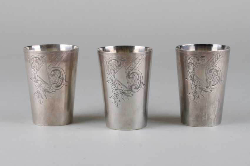 Three cups in art Nouveau style. - photo 1