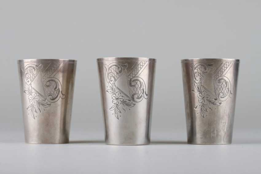 Three cups in art Nouveau style. - photo 3